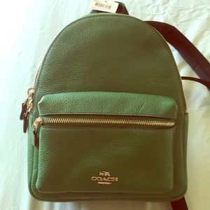 Coach Mini Charlie Pebble Leather Backpack - NWT